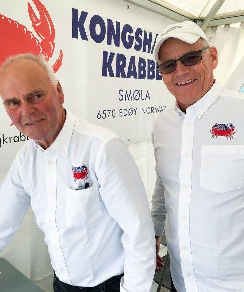 Torstein Holten Dyrnes og Glenn Haugerud fra Kongshaug Krabbe.