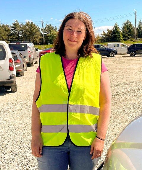 EN SMITTET: Kommuneoverlege Katrine Marie Haga Nesse i Karmøy kommune forteller at det er er en positiv koronaprøve på Karmøy.