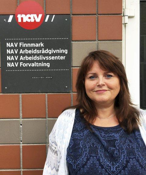 GLEDELIG: Den positive utviklingen i arbeidsmarkedet gleder seniorrådgiver i Nav Finnmark, Eva-Lill J. Margit.Foto: Ina Eliassen