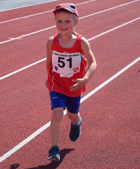 Trym Andor Johansen var en av de yngste deltakerne på Friidrettens Dag.