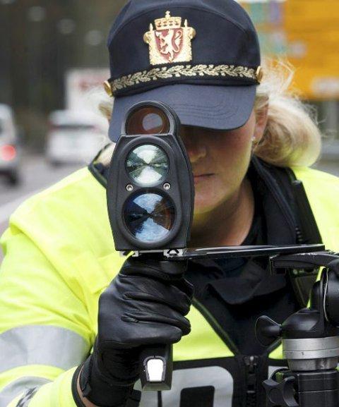 Kontroll: Utrykningspolitiet skal ha flere kontroller i år enn i fjor.  Foto: Gorm Kallestad, NTB scanpix/ANB