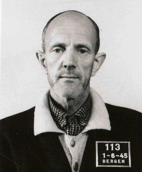 DØMT: Vidkunn Nitter Schreiner var NS-innsatt BT-redaktør fra 1942. Idømt seks års tvangsarbeid.