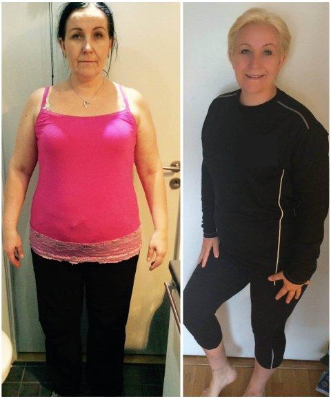 TOK GREP: Nina Albertsen (53) har gått fra å veie 115 til 82 kilo, mye ved hjelp av gratistreningen hun tilbyr Ullensakers befolkning. Den største endringen kom i fjor.