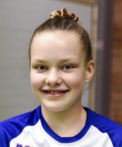 Mariell Bruntveit (12), Herøysund: – Eg elskar handball og vil læra meir. Eg er med i KHK og trenar to gonger i veka.