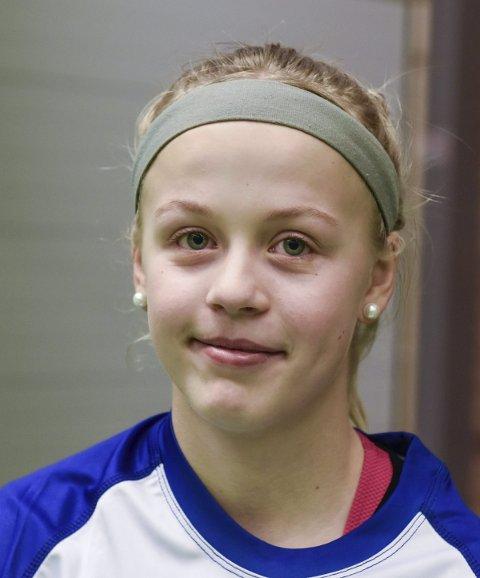 Aurora Raudstein Langeland (12), Husnes: – Eg er veldig glad i handball og går på handballtrening to gonger i veka.
