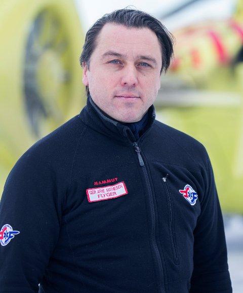 Pilot Geir Arne Mathiesen.