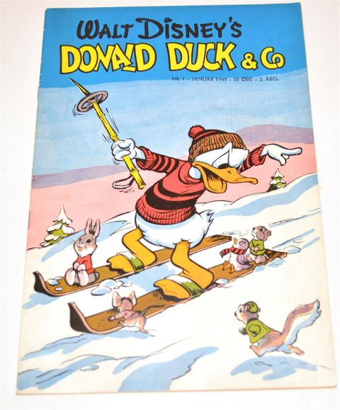 NUMMER TO: 28.750 kroner betalte en samler for å oppleve Donald på ski sammen med Snipp og Snapp.