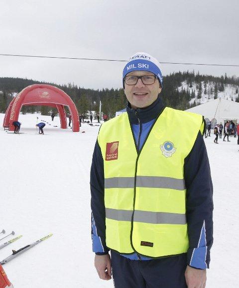 KM: Rennleder under KM, Karle Øvereng, på stadion. – Nå kan vi tilby bedre løyper, sier han.