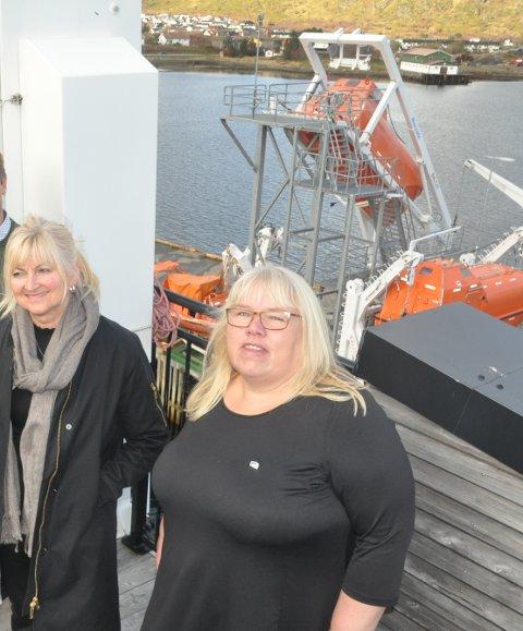SYKELØNN: Høyre og gruppeleder i fylkestinget, Beate Bø Nilsen, er uenig med Venstre om kutt i sykelønna. T.v. Høyre-politiker Rita Iren Nordheim i Vestvågøy.