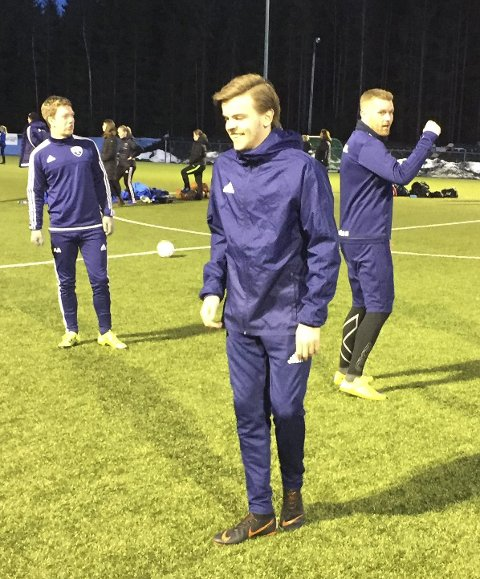 Humør: Alexander Arnesen (f.v.), Kevin Roos Johansen og Vegard G. Andersen er i godt humør for seriestart.