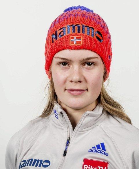 SØLV: Alta-jenta Anna Odine Strøm tok søndag sin første pallplass i verdencupen noen gang.