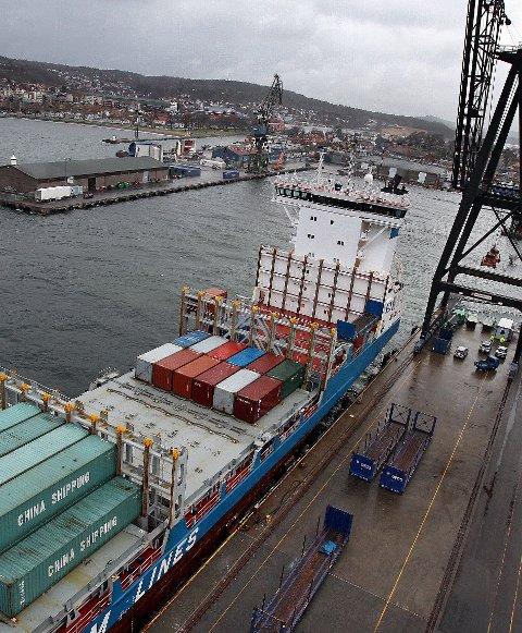 STENGER IKKE: Godstransporten til Moss Havn vil gå som vanlig.