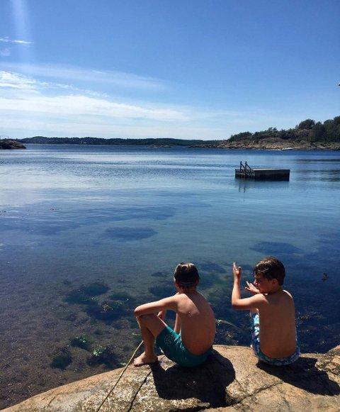 HETT: Selv om vi kanskje ikke får de høyeste temperaturene i landet, blir det fortsatt hett. Her fra Saltverket på Østre Halsen.