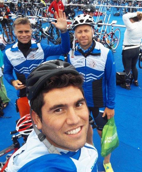 Ghamgin Ramok (fremst) med Halvor Halvorsen (t.v.) og Erik Nilsen i bakgrunnen.