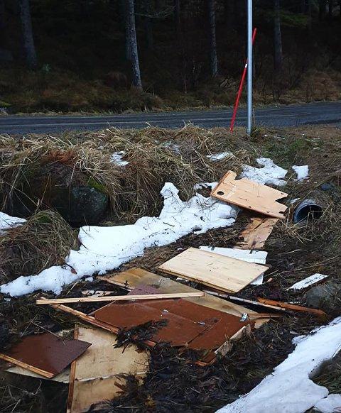 SØPPEL: Her er noe av søppelet fra Kallestranda.