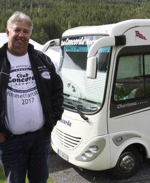 LEDER AV CONCORDE-FORENINGEN: Ove Strøm kjørte fra Bergen.