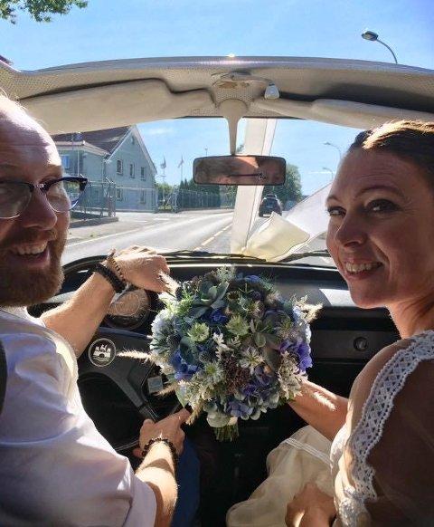GIFT: Rune Erling Pedersen og Toril Brommeland har tidligere fortalt ØP om sin kjærlighet. Nå vil vi høre din historie! (Privat)