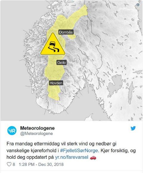 Faksimile meteorologene/Twitter
