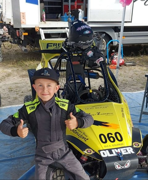 VANT: Oliver Fredriksen fra Vestfossen vant NM i Crosskart.