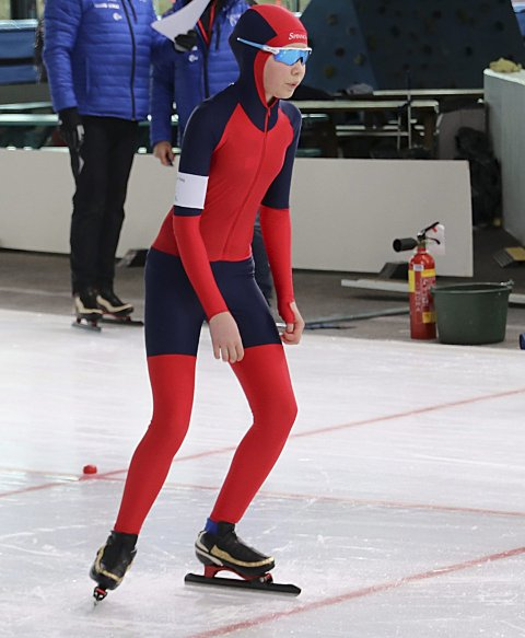 REKORD: Amalie Haugerud Teig satte ny kretsrekord på 1.000 meter i Stavanger.