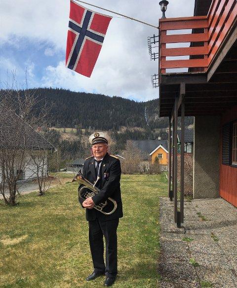 Klar: Svein Johansen har klart kunststykket å holde seg frisk og spille på nasjonaldagen i 76 år på rad.