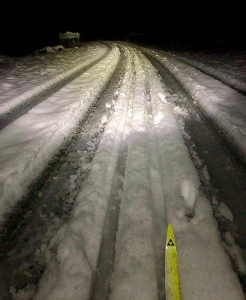 Eirik (40) tok frem grusskiene sine onsdag og gikk på en 16 kilometer lang skitur.