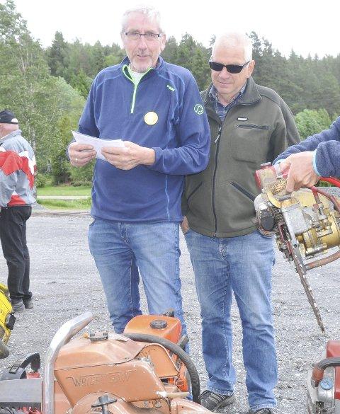 Så på MOTORSAGER: Stein Fjeldseth (t.v.) og Kjell Jørgensen.