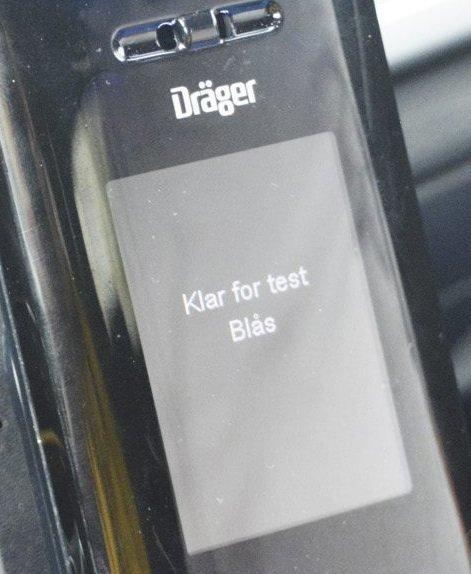 Før kjøring: «Klar for test. Blås.»