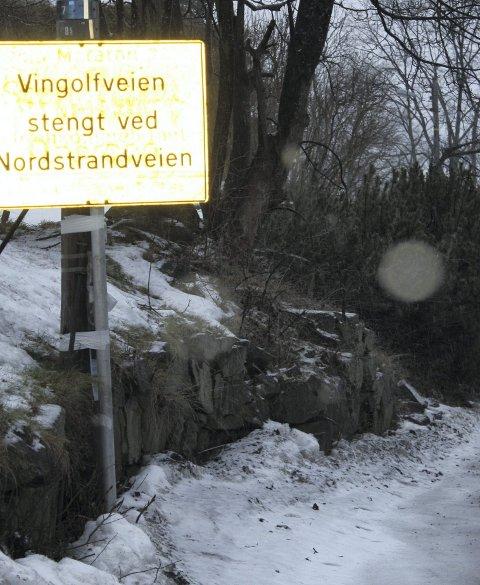 IKKE LENGER: Ved Krokkleiva/Kastellveien må bilene snu.