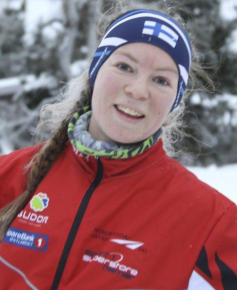 BRONSEJENTE: Evine Westli Andersen fra Løten gikk på Norges stafettlag som sikret EM-bronse i skiorientering.