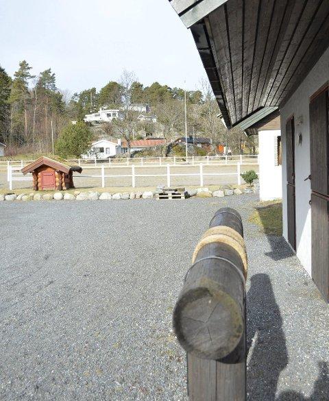 STALL: I området ved hundehuset bak i bildet, ønsker Haldorsen å bygge en stall.