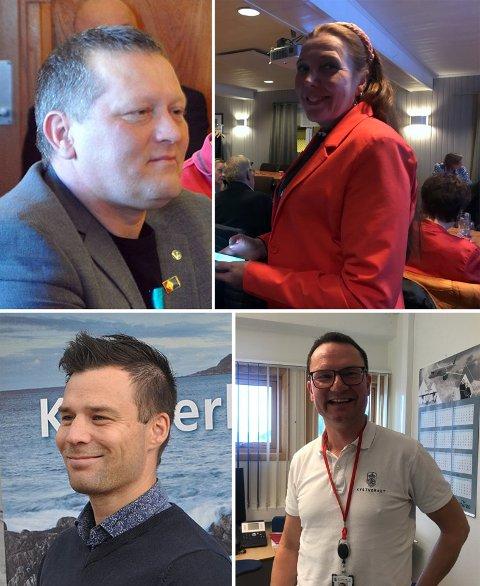 Tor Mikkola (SP), Kari Lene Olsen (AP), Ruben Vian Alseth (H) og Jan Olsen (SV) fikk flest personstemmer.