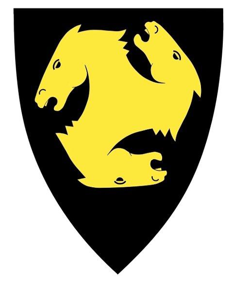 Nordre Follos kommunevåpen som både historisk og nytt. Skis hestehoder med Oppegårds farger.