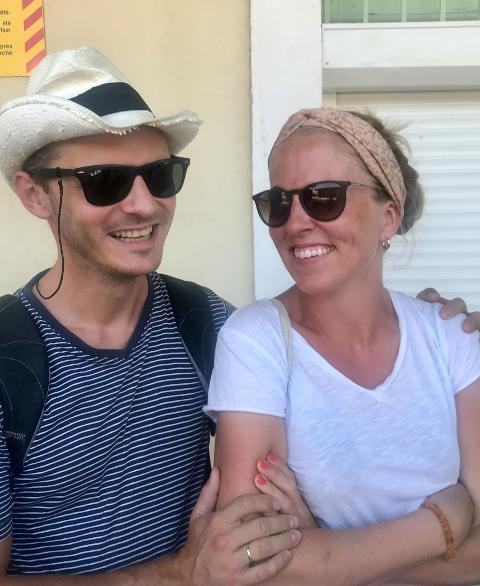 MØTTES PÅ POKERLAG: Journalist Sigrid Ringnes møtte sin Tim etter at hun flyttet til Larvik for å jobbe i ØP. Foto: Elisabeth Holm