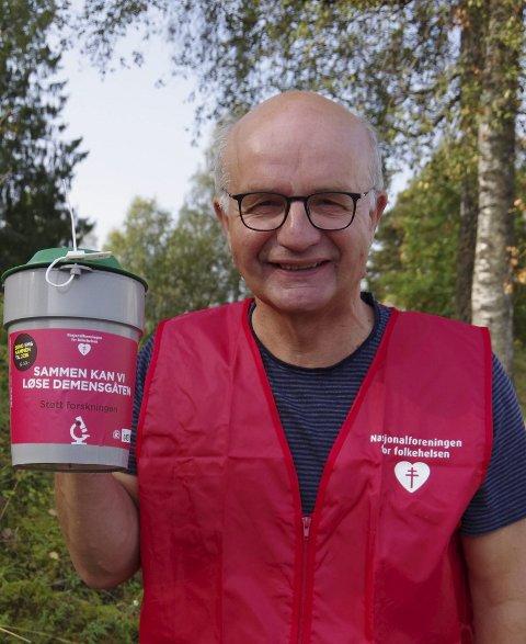 Mobiliserer: Paal Øieren i Kongsvinger demensforening er klar til å ta i et tak.Foto: Anna Kvarberg Ekre
