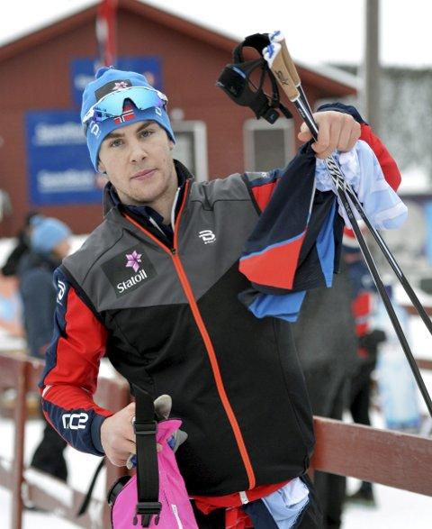 IKKE HELT PIGG: Mattis Stenshagen endte på femteplass i sprintfinalen under ski-NM på Gåsbu.Foto: Kjell H. Vollan