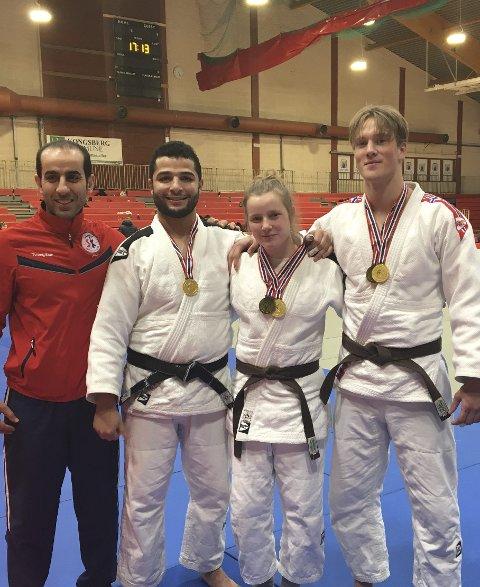 Medalje: SSK sine utøvere som tok medalje i U21 og senior. Fra venstre trener Sameer Rabah, Hani Alsaid, Helene Eek Gerhardsen og Kornelius Oliver Eilertsen.