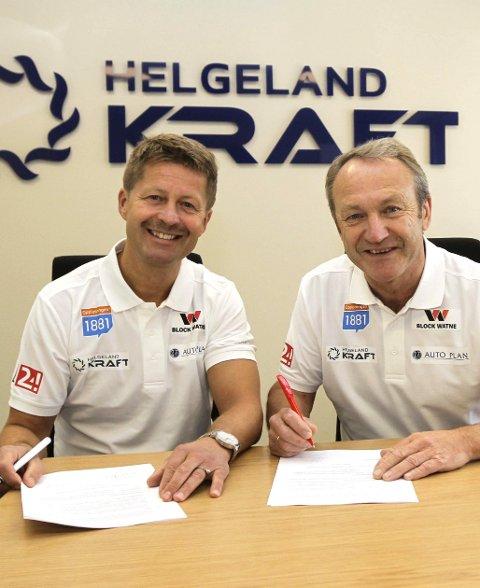 I BOKS: Begge var fornøyd. Ivar Stuan og Arild Markussen (t.v.) signerte avtale mandag.