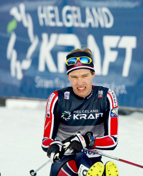 PROFILERING: Logoen til Helgeland Kraft profileres på drakt, arena og startnummer.