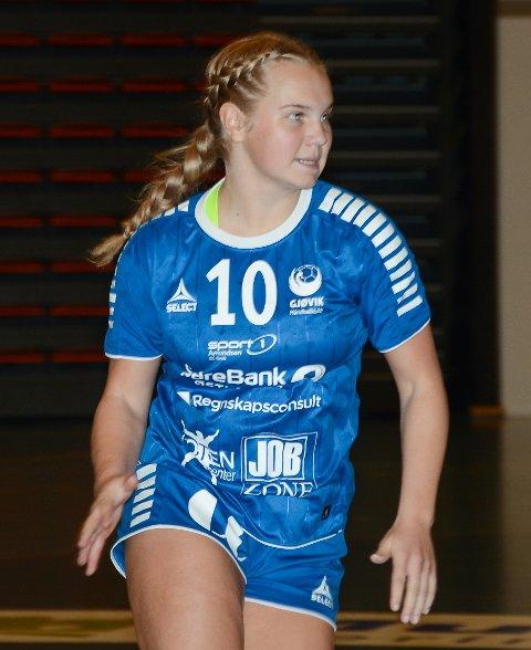 Hedda Larsstuen scoret fem ganger for Gjøvik HK mot Haslum 2.