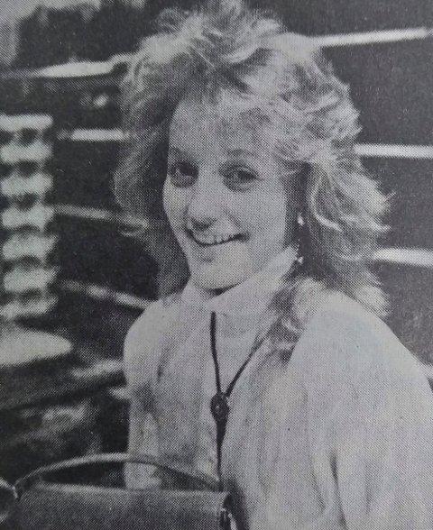 1987: Slik så Lindis Hurum ut for 32 år siden - den gangen åttendeklassing i arbeidsuke.
