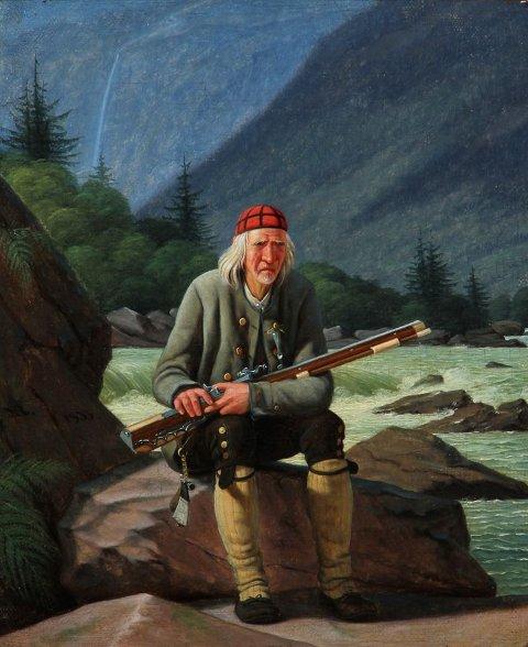 MED VÅPEN: Portrettet av Nils Miland, malt av Martinus Rørbye, ble solgt for 98 000 kroner under en auksjon i Danmark.