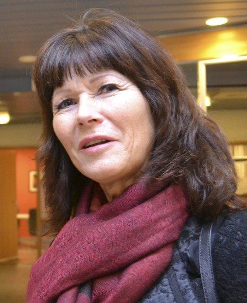 SATT PÅ GALLERIET: Øvre Eiker-ordfører Ann Sire Fjerdingstad fulgte stormøtet fra galleriet.