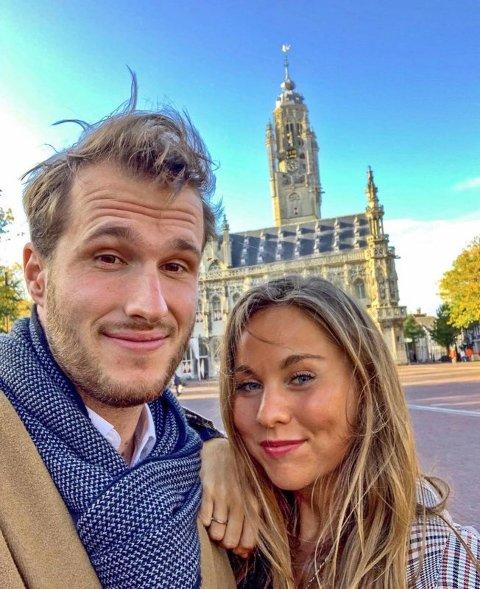 MØTTES PÅ EN ØDE ØY: På selveste nasjonaldagen til den lille øya utenfor Colombia, møtte Anja Bergum kjæresten Lennart Hoogenboom. Øya på størrelsen av fotballbaner bant de sammen og nå har de vært sammen i to år.