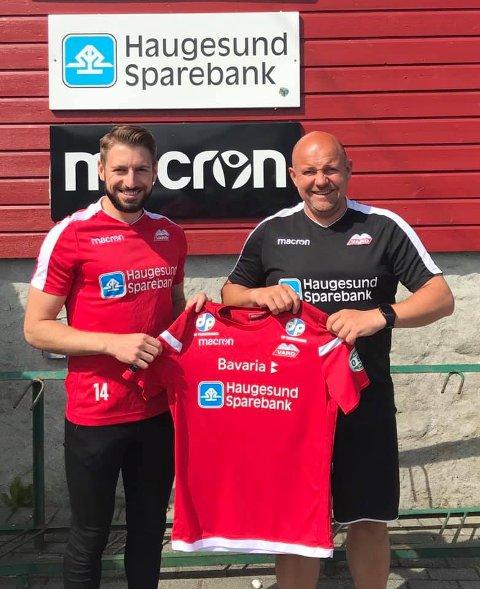 NY SPILLER: Eduard Khachatrjan (t.v.) skal spille for Vard og trener Kolbjørn Fosen.