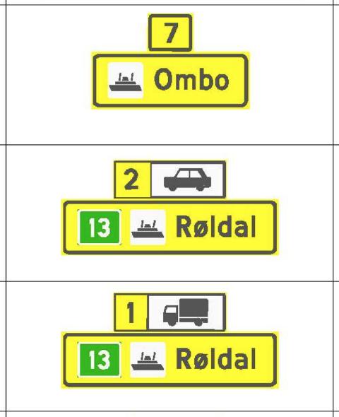 RØLDAL FERJEKAI: I skiltplanen som er til høyring står det ingenting om Hjelmeland eller Nesvik når folk skal velja felt i ferjekøen. Dei kan velja mellom Ombo, Stavanger og Røldal.
