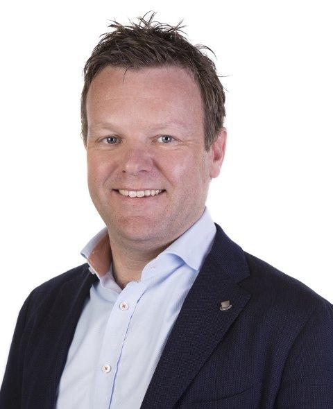 Regionsdirektør Christian Eksedal i Rema 1000.