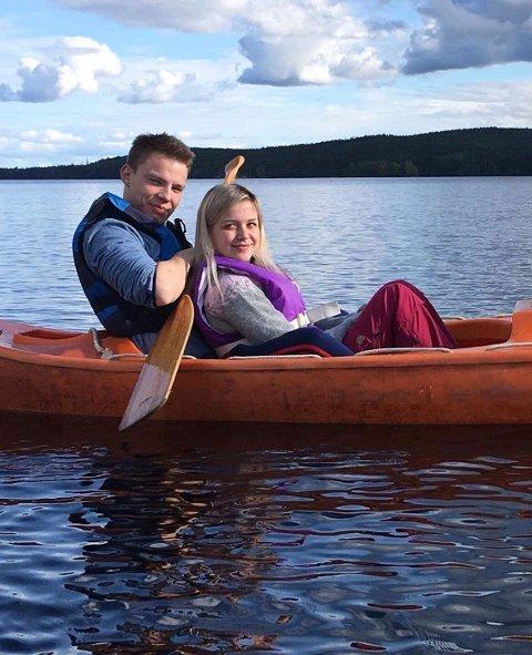 KJÆRESTE: Eirin Daniloff og forloveden Jakob Johansen har vært sammen gjennom hele den tøffe perioden, og Daniloff mener kjæresten har vært en av de viktigste støttespilleren gjennom sykdommen.