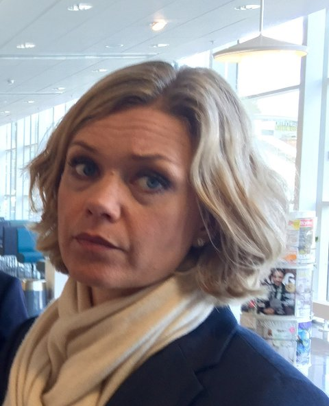Kommunikasjonssjef i Troms Kraft, Lena Glosemeyer Fangel. Foto: Linda Vaeng Sæbbe