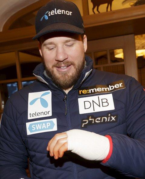 SKADE: Det ser ut for at Kjetil Jansruds skade ikke hemmet ham på trening.